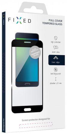 Fixed Full-Cover keményített védőüveg Samsung Galaxy A8 Plus (2018) számára, fekete, 0.33 mm FIXGF-262-033BK