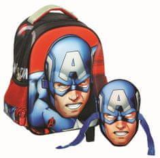 GIM Baťůžek Junior oválný Captain America s maskou