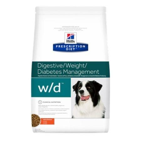 Hill's Prescription Diet w/d Canine z kurczakiem, 4 kg