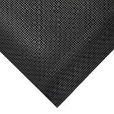 Černá gumová protiskluzová protiúnavová průmyslová rohož - 1 cm