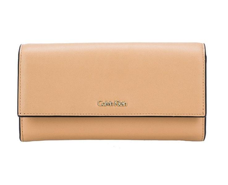Calvin Klein Dámská peněženka Compact Large Trifold Toast