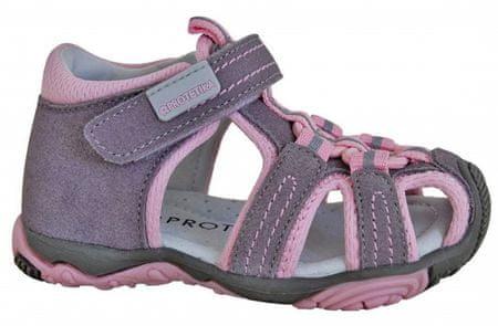 cce6f76ece3a Protetika Dievčenské sandále Sid 23 šedo-ružové