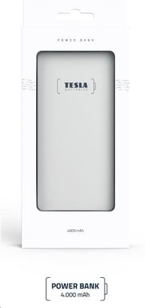 Tesla Powerbank 4000mAh TESLA PB 4.000 SILVER