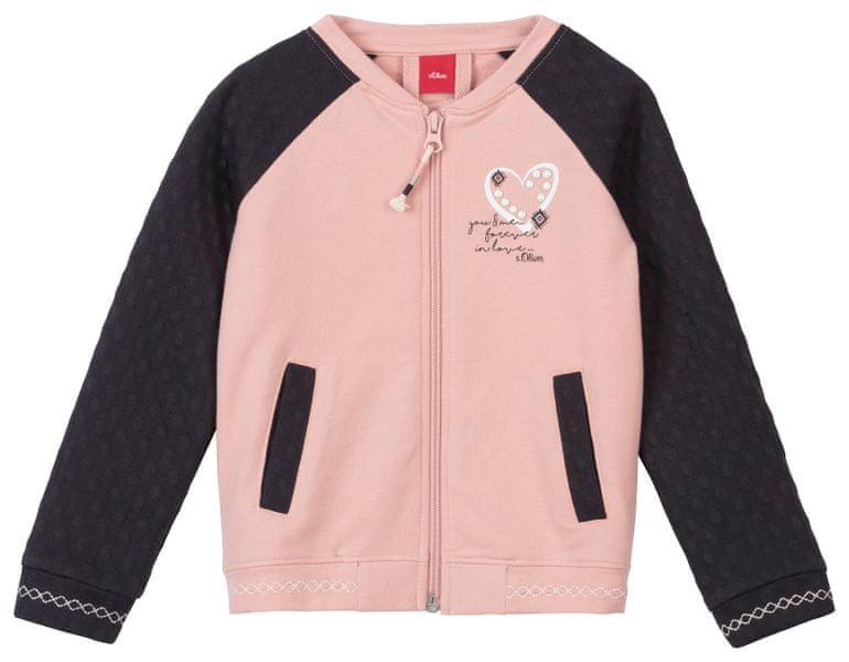 s.Oliver dívčí mikina 128 - 134 růžová/černá