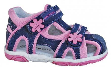 Protetika Dievčenské sandále Ibiza 19 modro-ružové