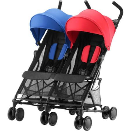Britax Römer wózek dla rodzeństwa Holiday Double, Red/Blue
