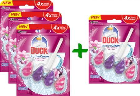 Duck Active Clean Dazzling Petals WC-frissítő, 3+1 db