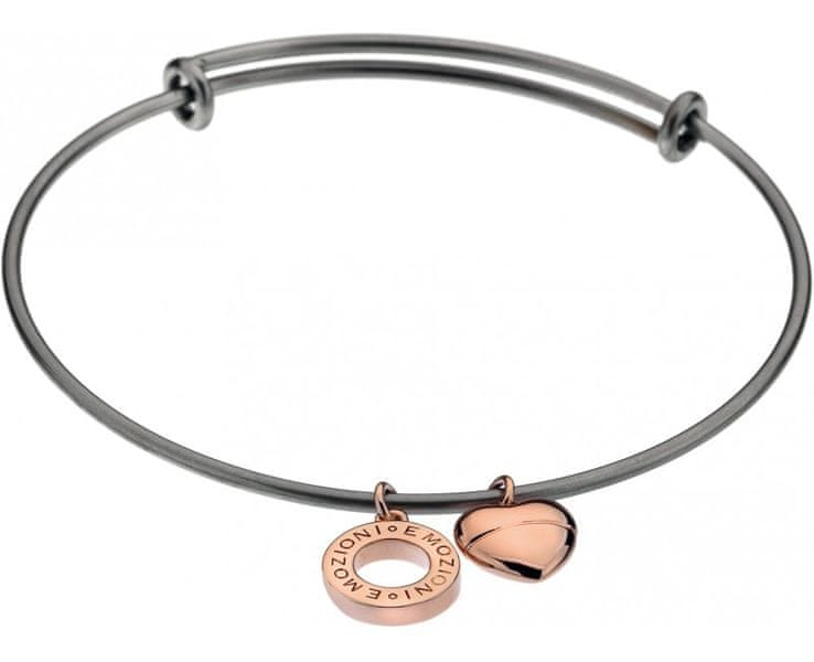 Hot Diamonds Ocelový náramek Emozioni Rose Gold Bangle DC108