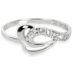Brilio Prsten z bílého zlata s krystaly 229 001 00583 07 - 1,30 g zlato bílé 585/1000