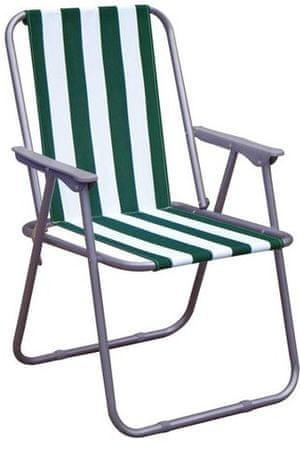 Happy Green Křesílko plážové, zelený pruh