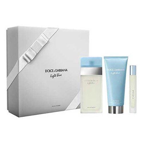 Dolce & Gabbana Light Blue - EDT 100 ml + tělový krém 100 ml + toaletní voda s rozprašovačem 7,4 ml