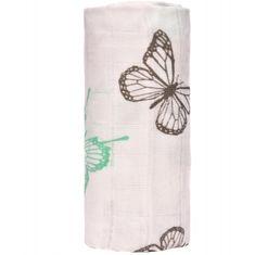 T-tomi bambusowy ręcznik kąpielowy BIO, motylki