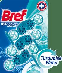 Bref čistilo za wc školjko Turquoise Aktiv Ocean, 3 x 50 g