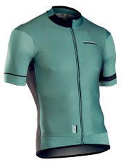 Northwave moški kolesarski dres Airout Jrs S/S Green/Black, zeleno črn, M