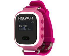 Helmer Chytré hodinky s GPS lokátorem a SIM kartou GoMobil s kreditem 50 Kč LK 702 růžové
