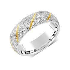 Silvego Snubní prsten pro muže i ženy z oceli RRC22799
