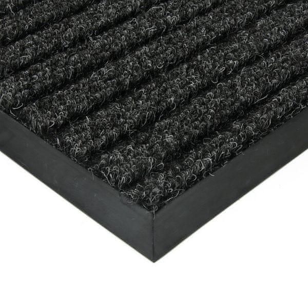FLOMAT Černá textilní zátěžová čistící rohož Shakira - 500 x 300 x 1,6 cm