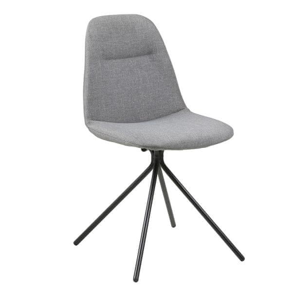 Design Scandinavia Jídelní židle Olive (SET 2 ks), šedá