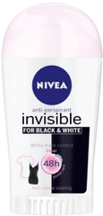 Nivea antiperspirant Invisible For Black & White Clear, 40 ml