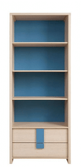 CAPS, regál REG2S/80, dub sv. belluno/modrá