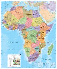 Afrika politická nástěnná mapa 100x120 cm - papír