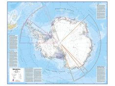 Antarktida politická nástěnná mapa 100x120 cm