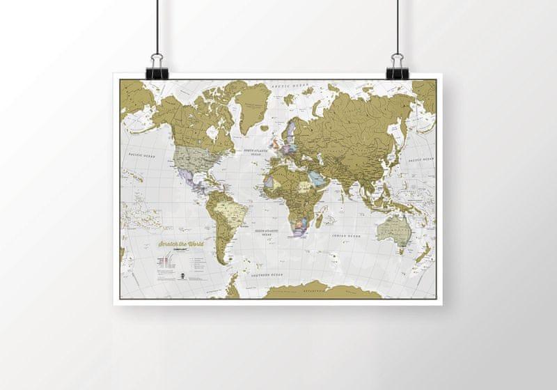 Stírací mapa světa 84x60 cm Maps International
