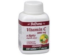 MedPharma Vitamín C 1000 mg s šípky 100 tablet + 7 tablet ZDARMA