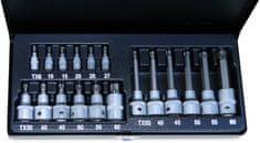 """komplet nasadnih ključev ATX  0,64 (1/4"""") in 1,27 cm (1/2""""), 19 kosov"""