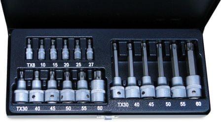 """ATX zestaw kluczy 1/4"""", 1/2"""" 19 ks"""