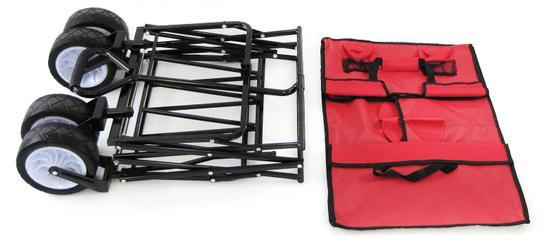 Transportni voziček, zložljiv, 80 kg, rdeč