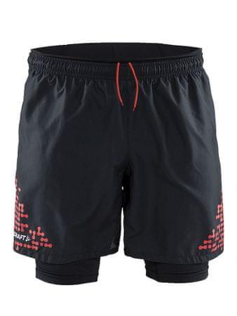 Craft moške športne hlače Trail Short 2-1, črne, XL