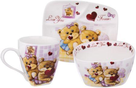 Orion zestaw obiadowy dla dzieci Niedźwiadek, 3 elementy