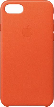 Apple usnjeni ovitek iPhone 8/7 Leather Case - Bright Orange