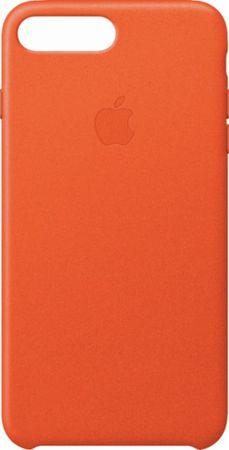 Apple usnjeni ovitek iPhone 8/7 Plus Leather Case - Bright Orange