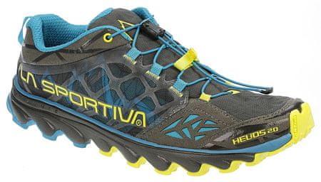 La Sportiva moški tekaški čevlji Helios 2.0, Carbon/Blue Tropic, sivo/modri, 44,5