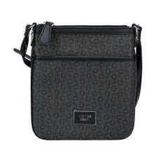 Guess Dámská kabelka Women`s Burnley Faux-Leather Logo Crossbody - Coal