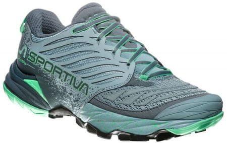 La Sportiva ženski tekaški čevlji Akasha Woman, Stone Blue/Jade Green, zeleni, 37