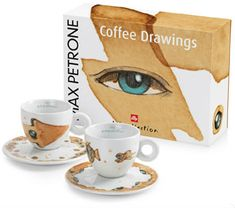 illy zestaw filiżanek do cappuccino Max Petrone Coffee Drawings, 2 szt.