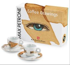 illy zestaw filiżanek do espresso Max Petrone Coffee Drawings, 2 szt.