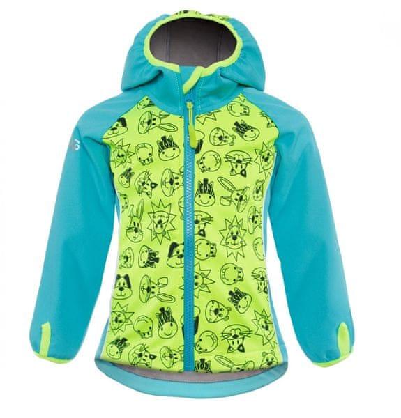 good2go chlapecká softshellová bunda žluto-modrá - 98