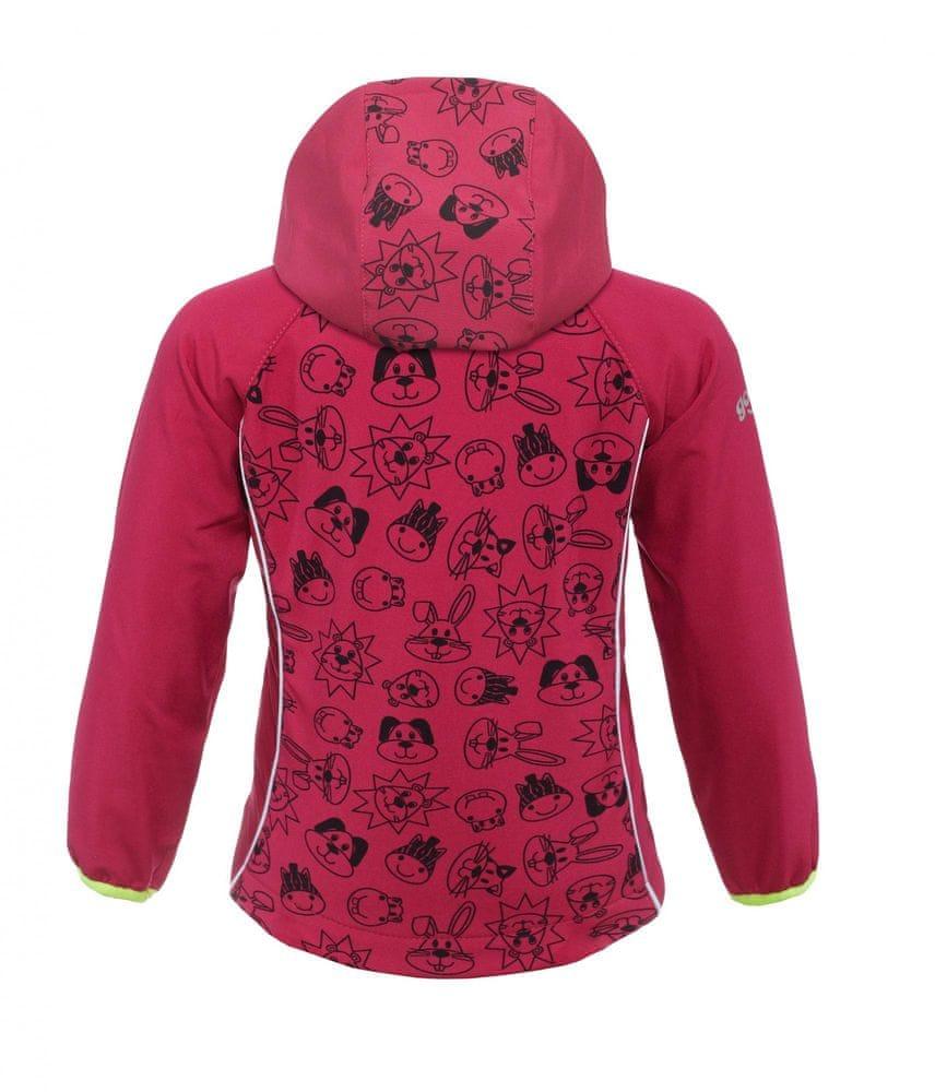 good2go dívčí softshellová bunda růžová - 98