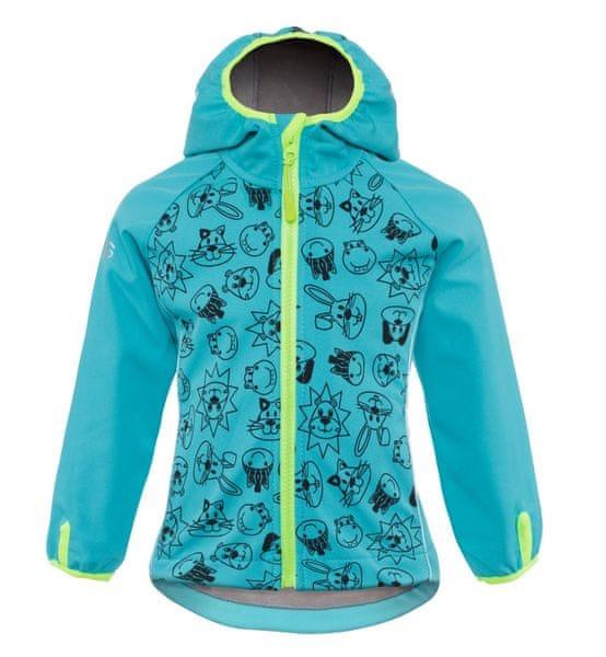 good2go chlapecká softshellová bunda 98 - modrá