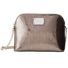 Michael Kors Kabelka Cindy Large Dome Crossbody MK Signature Nickel