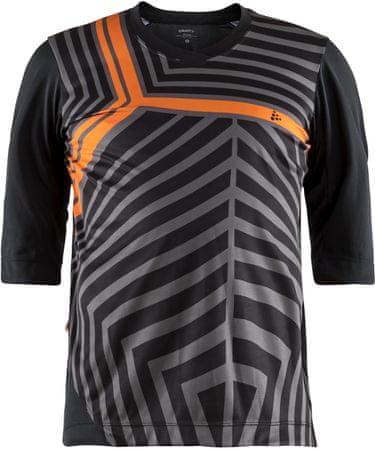 Craft koszulka rowerowa męska Dust XT, czarny/pomarańczowy M