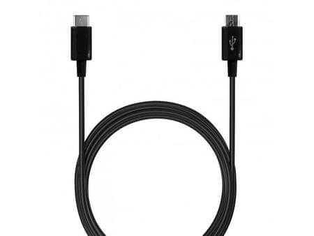 Puro kabel Type-C Micro USB, 1 m, črn