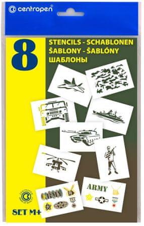 Šablony k foukacím fixům M+ Military (vojenské)