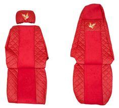 F-CORE Potahy na sedadla FX03, červené