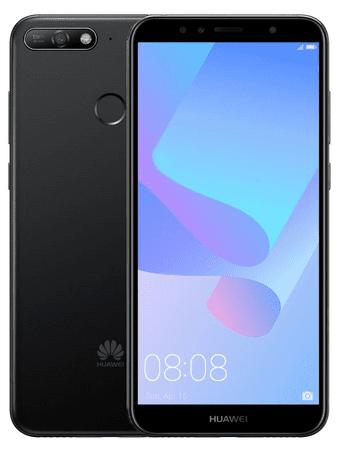 Huawei Y6 Prime 2018 mobiltelefon, DualSIM, fekete