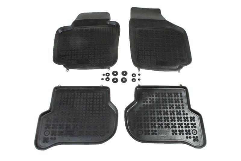 REZAW-PLAST Gumové koberce, sada 4 ks (2x přední, 2x zadní), Škoda Yeti od r. 2009 a VW Golf Plus od r. 2005
